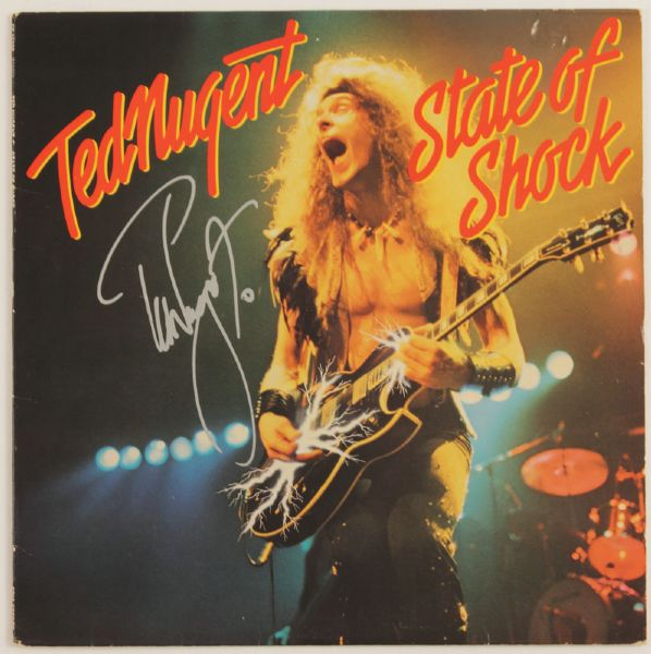Ted Nugent Signed State of Shock Album