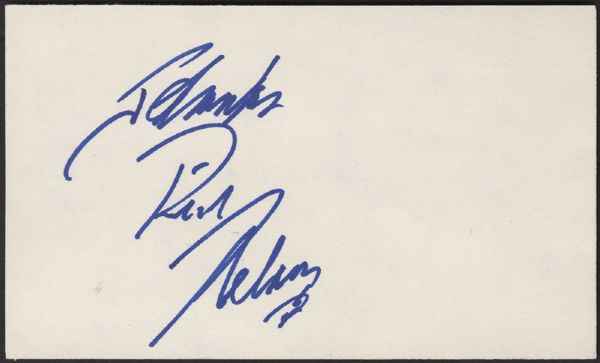 Rick Nelson Signature and Photograph