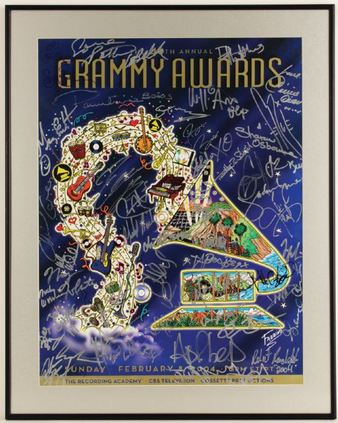 46th Annual Grammy Awards Signed Poster