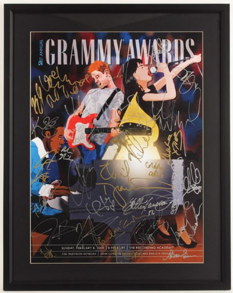 51st Annual Grammy Awards Signed Poster