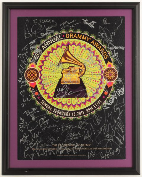 53rd Annual Grammy Awards Signed Poster