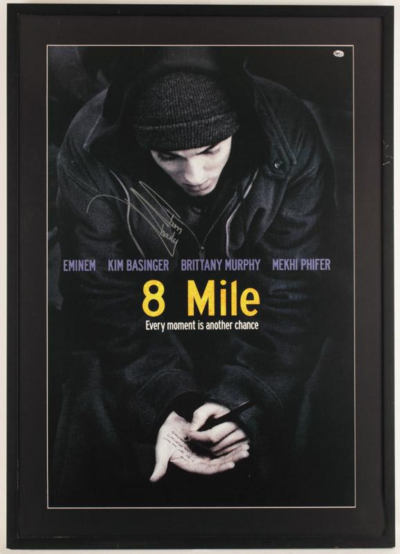 """Lot Detail - Eminem Signed """"8 Mile Road"""" Poster"""