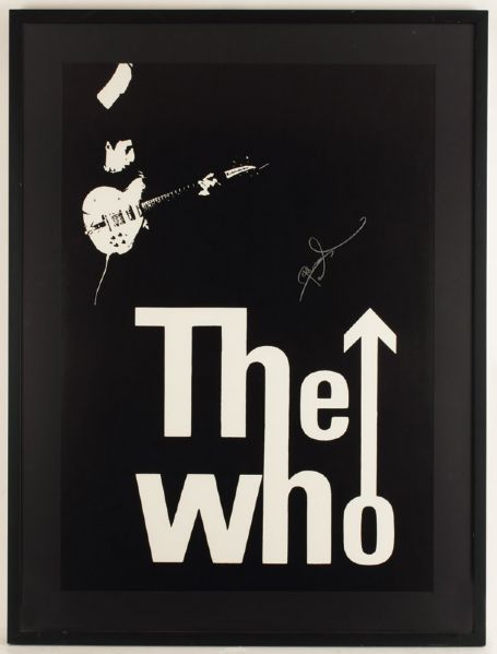 The Who Pete Townshend Signed Poster