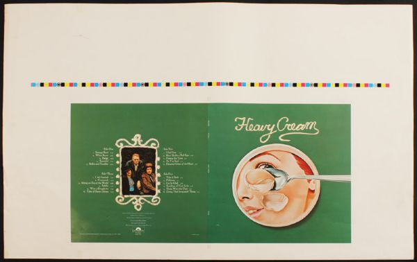 Heavy Cream Original Album Slick With Two Cream Photographs