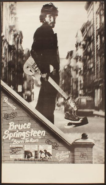 Bruce Springsteen Born to Run Original Promotional Poster