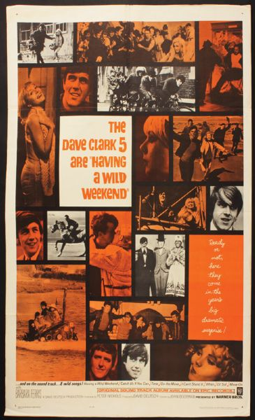 Dave Clark 5 Having A Wild Weekend Original Movie Poster
