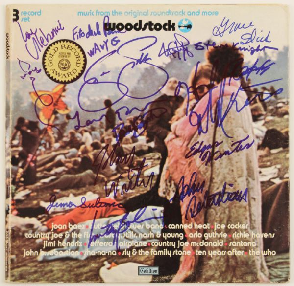 Woodstock 1969 Signed Album