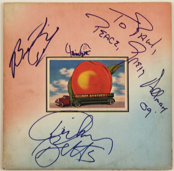 Allman Brothers Signed Eat A Peach Album