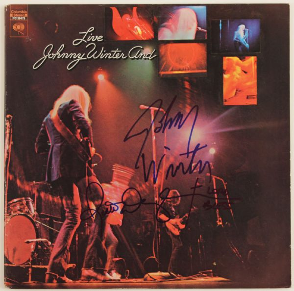 Johnny Winter & Rick Derringer Signed Johnny Winter And Live
