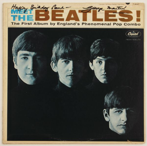 George Martin Signed & Inscribed Meet The Beatles Album