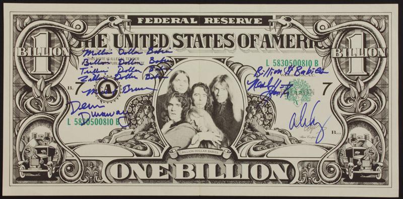 Lot Detail Alice Cooper Band Signed Quot Billion Dollar