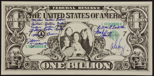 "Alice Cooper Band Signed ""Billion Dollar Babies"" Album Insert"