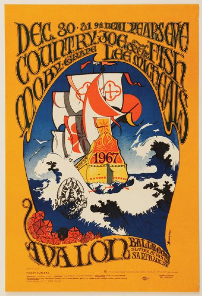 Country Joe & The Fish Original Poster