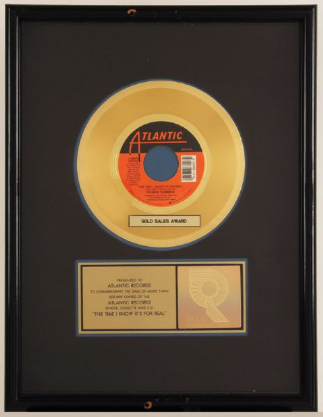 Donna Summer This Time I Know It's Real Gold Single Award