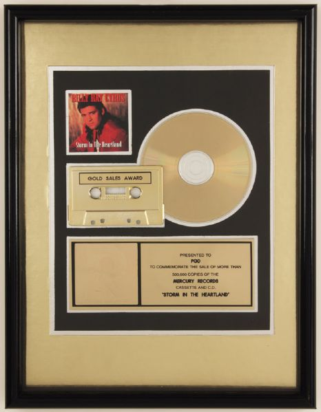 Billy Ray Cyrus Storm In The Heartland RIAA Gold Award