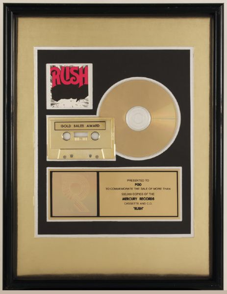 Rush RIAA Gold Award