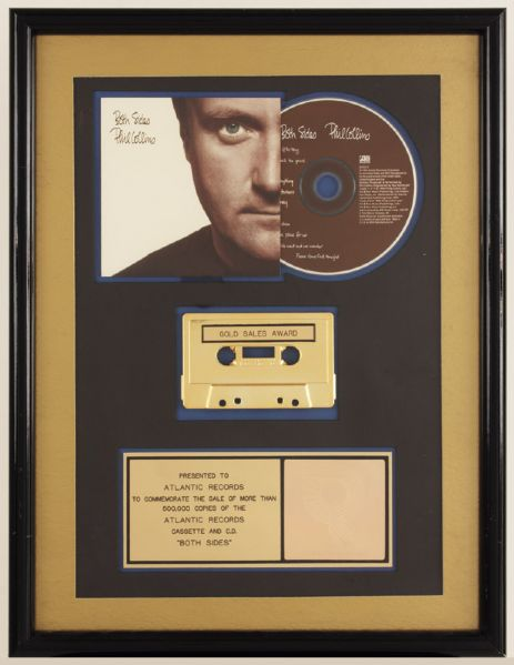 Phil Collins Both Sides RIAA Gold Award