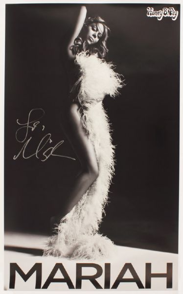 Mariah Carey Signed Poster