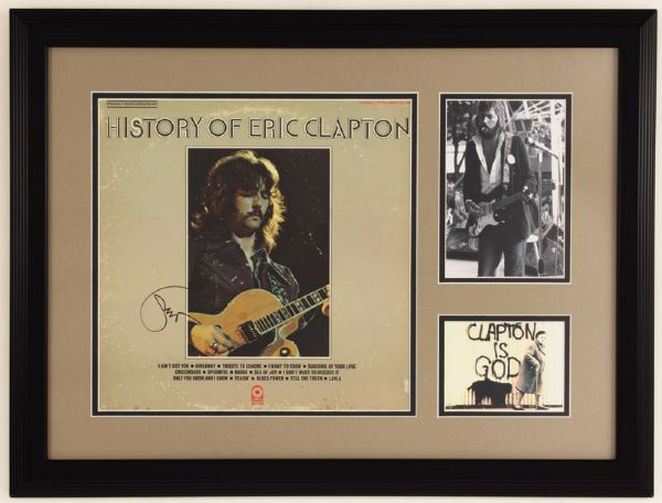 Eric Clapton Signed History of Eric Clapton Album Display
