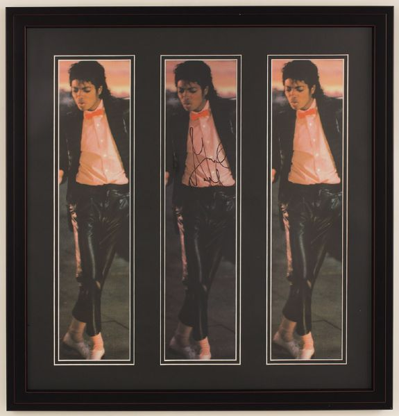 Michael Jackson Signed Photograph Display