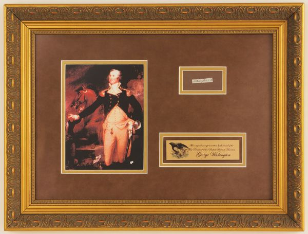 George Washington Handwritten Display