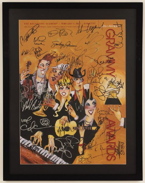 49th Annual Grammy Awards Signed Poster