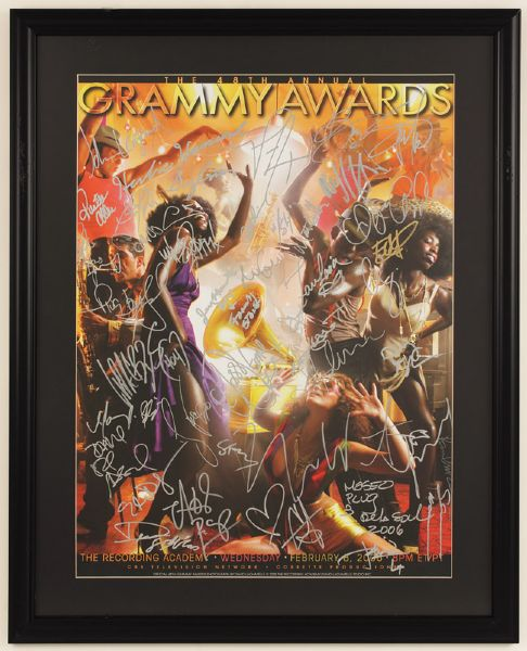 48th  Annual Grammy Awards Signed Poster