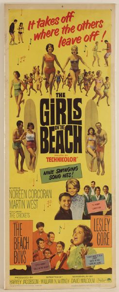 """The Girls on the Beach"" Original Movie Poster"