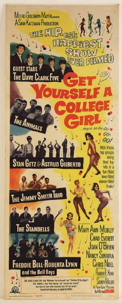 Get Yourself a College Girl Original Movie Poster