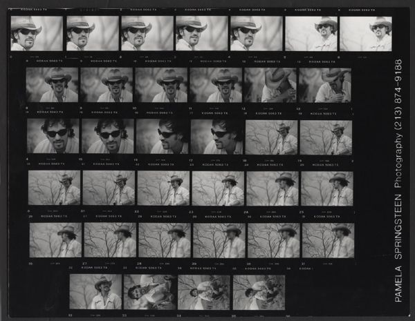 Bruce Springsteen Original Contact Sheet