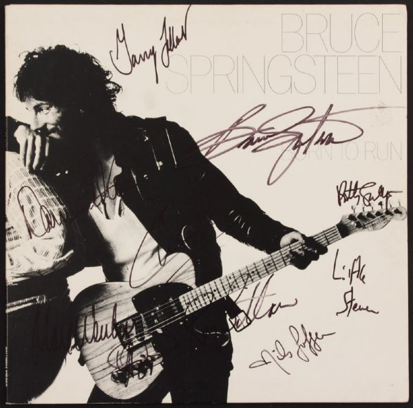 Bruce Springsteen and the E Street Band Signed Born To Run Album