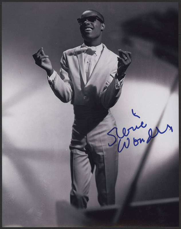 Lot Detail - Stevie Wonder Signed Photograph