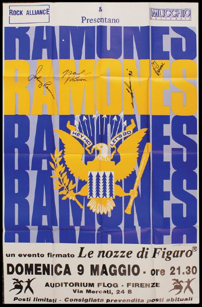 The Ramones Signed Concert Poster