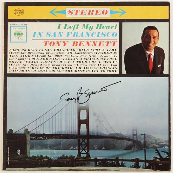 Tony Bennett Signed I Left My Heart In San Francisco Album