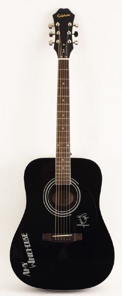 Amy Winehouse Signed Acoustic Guitar
