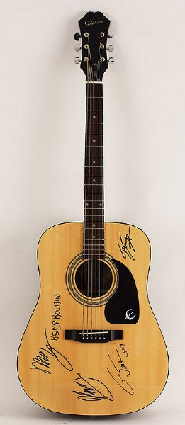 Crosby, Stills, Nash & Young Signed Acoustic Guitar