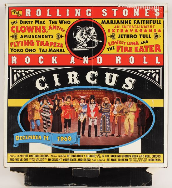 Rolling Stones Rock and Roll Circus Original Promotional Display