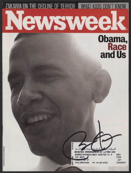 Barack Obama Signed Newsweek Magazine