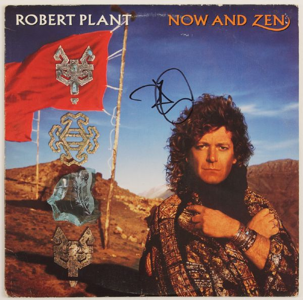 Robert Plant Signed Now And Zen Album