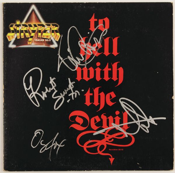 Stryper Signed To Hell With The Devil Album