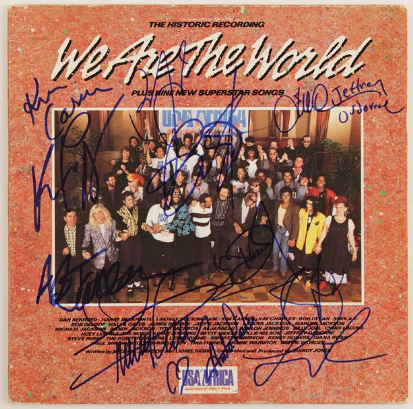 We Are The World Performers Signed Album