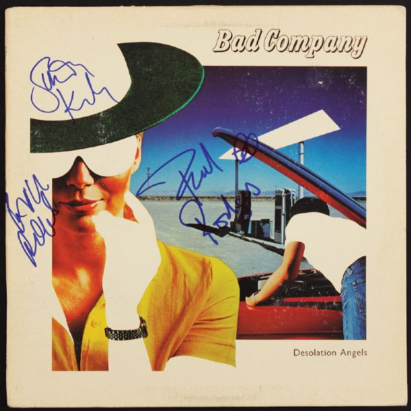 Bad Company Signed Desolation Angel Album