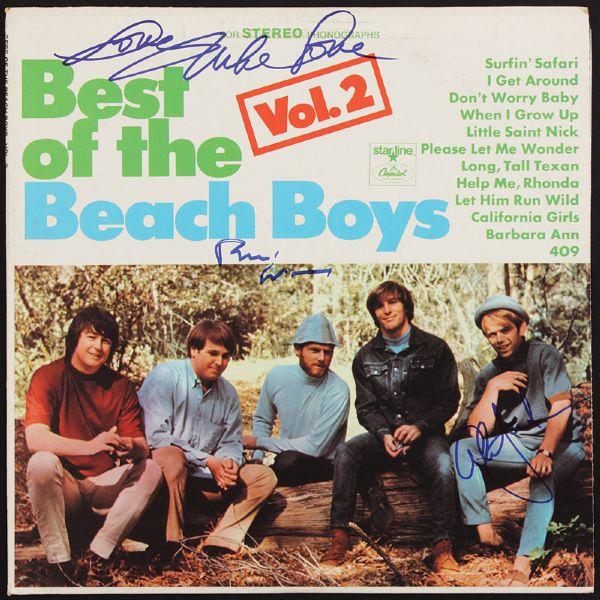 "Beach Boys Signed ""Best Of"" Album"