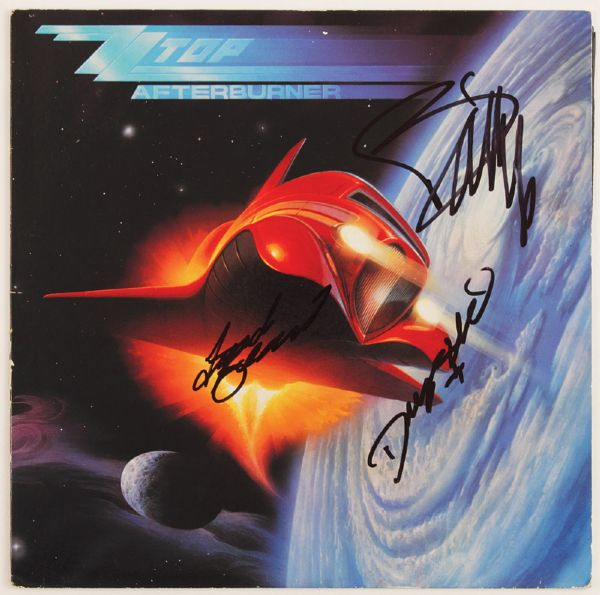 ZZ Top Signed Afterburner Album