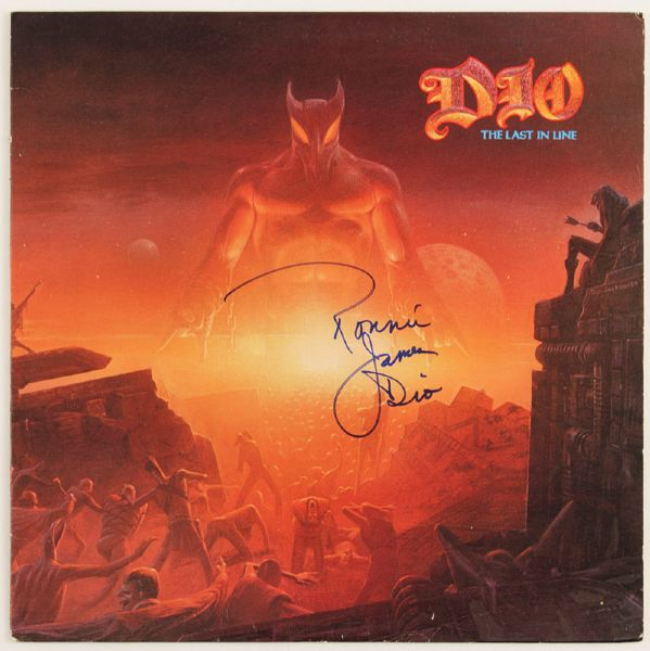 Ronnie James Dio Last In Line Signed Album