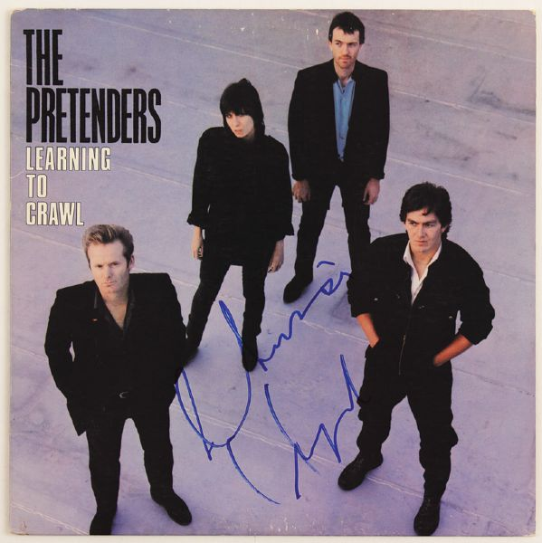 The Pretenders Chrissy Hynde Signed Learning to Crawl Album