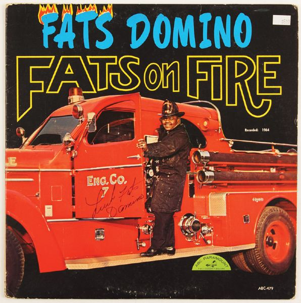 Fats Domino Signed Fats On Fire Album