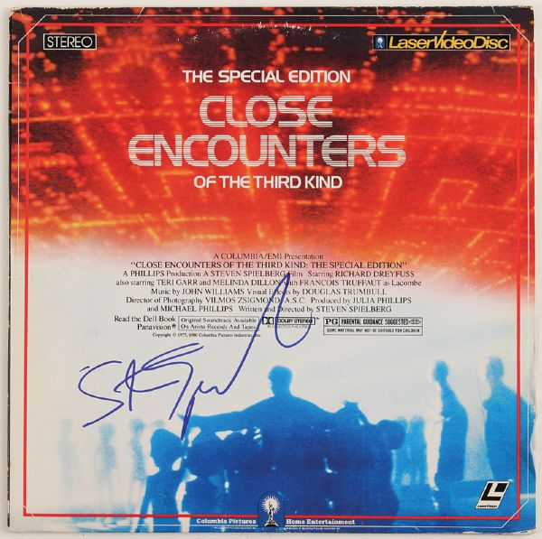 Steven Spielberg Signed Close Encounters of the Third Kind Laser Video Disc