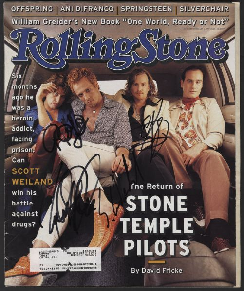 Stone Temple Pilots Signed Rolling Stone Magazine
