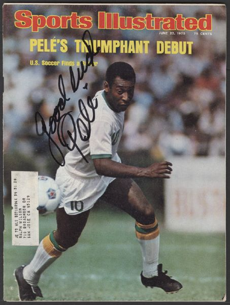 Pelé Signed Sports Illustrated Magazine